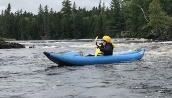 Kayaking in Maine: Seboomook Class 3 Whitewater, Penobscot River