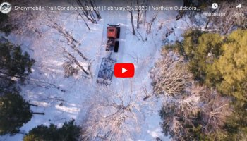 Snowmobile Trail Conditions Report: The Forks, Maine February 20