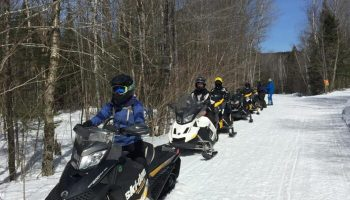 Snowmobile Trail Conditions Report: The Forks, Maine March 27