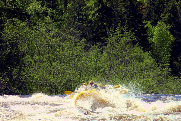 Dead River rafting in the Spring