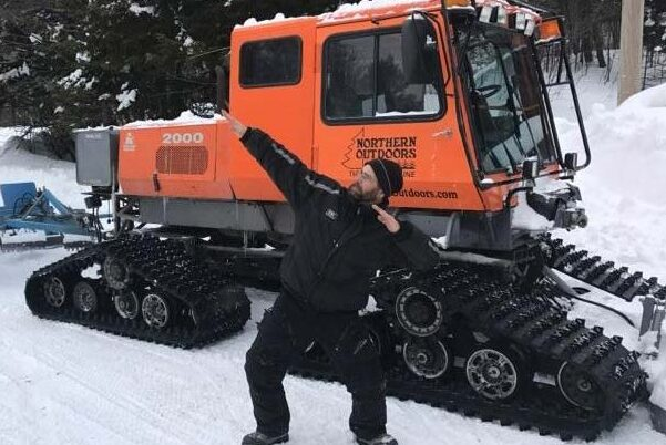 Snowmobile Trails Opening Groomer