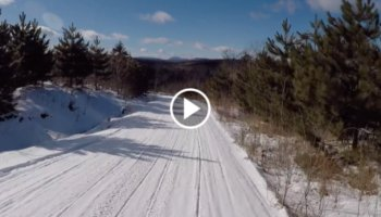 Snowmobile Trail Conditions Report: The Forks, Maine February 2020