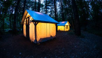 Camping on the Kennebec River in The Forks, Maine