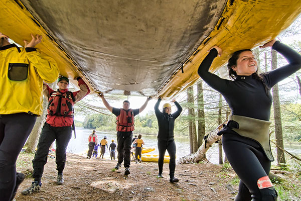 Whitewater guide training