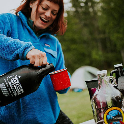 Growler to go campground