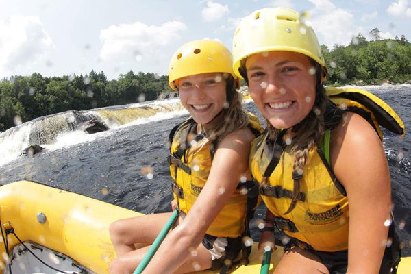 Penobscot waterfall girls smiling