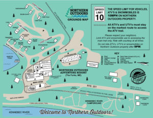 Northern Outdoors resort map in color