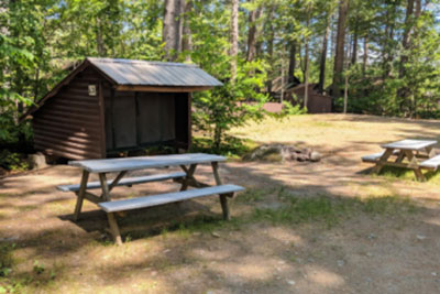 Lean-to Big Moose Campground