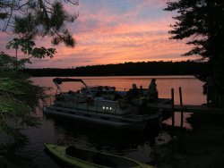 Maine camping: Indian Pond Sunset