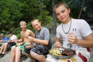 Kennebec River Rafting Gourmet Lunch