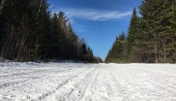Snowmobile Trail Conditions Report: The Forks, Maine February 23