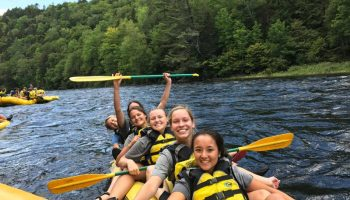 Team Building Activities - Rafting with Wheaton College Women's Soccer Team