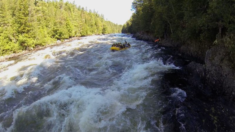 Whitewater rafting with Northern Outdoors through Magic Falls on the Kennebec River in Maine