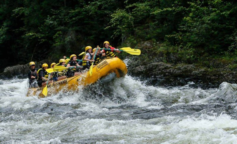 Whitewater rafting on the Kennebec River in Maine