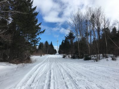 Snowmobile Trail to Bingham, Maine