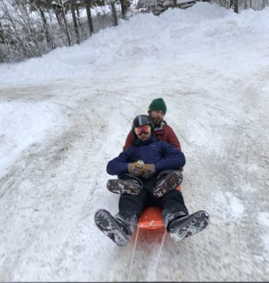 Zach and Trevor Sled Northern Outdoors