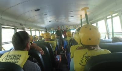 Bus Ride to Kennebec River