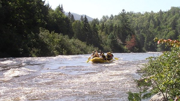 dead river fall rafting - maine northern outdoors