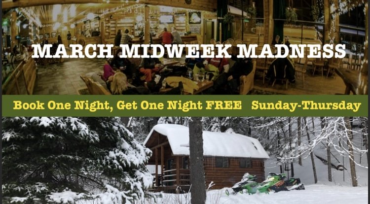 March Midweek Madness BOGO Special at Northern Outdoors