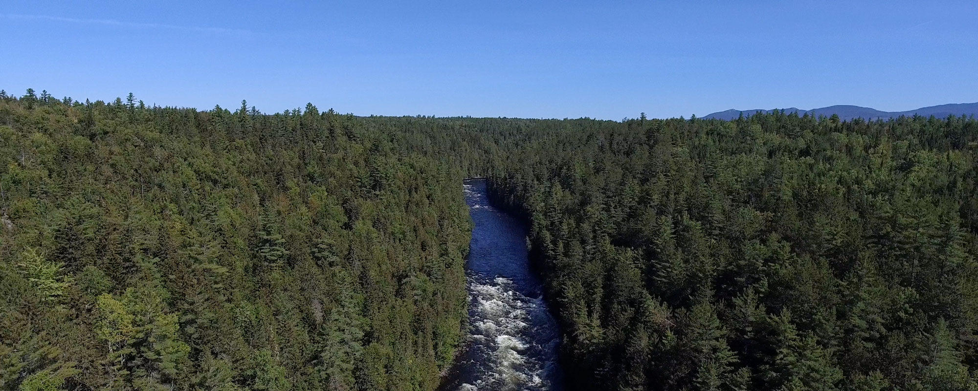 Kennebec River Gorge Drone Arial
