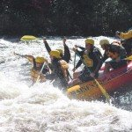 High Adventure Sport Rafts on the Dead River