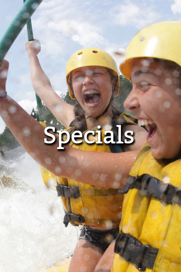 Whitewater Rafting Specials