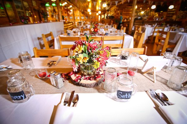 Table Decor at Northern Outdoors Wedding