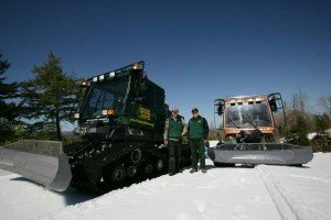 Snowmobile trail grooming - Northern Outdoors