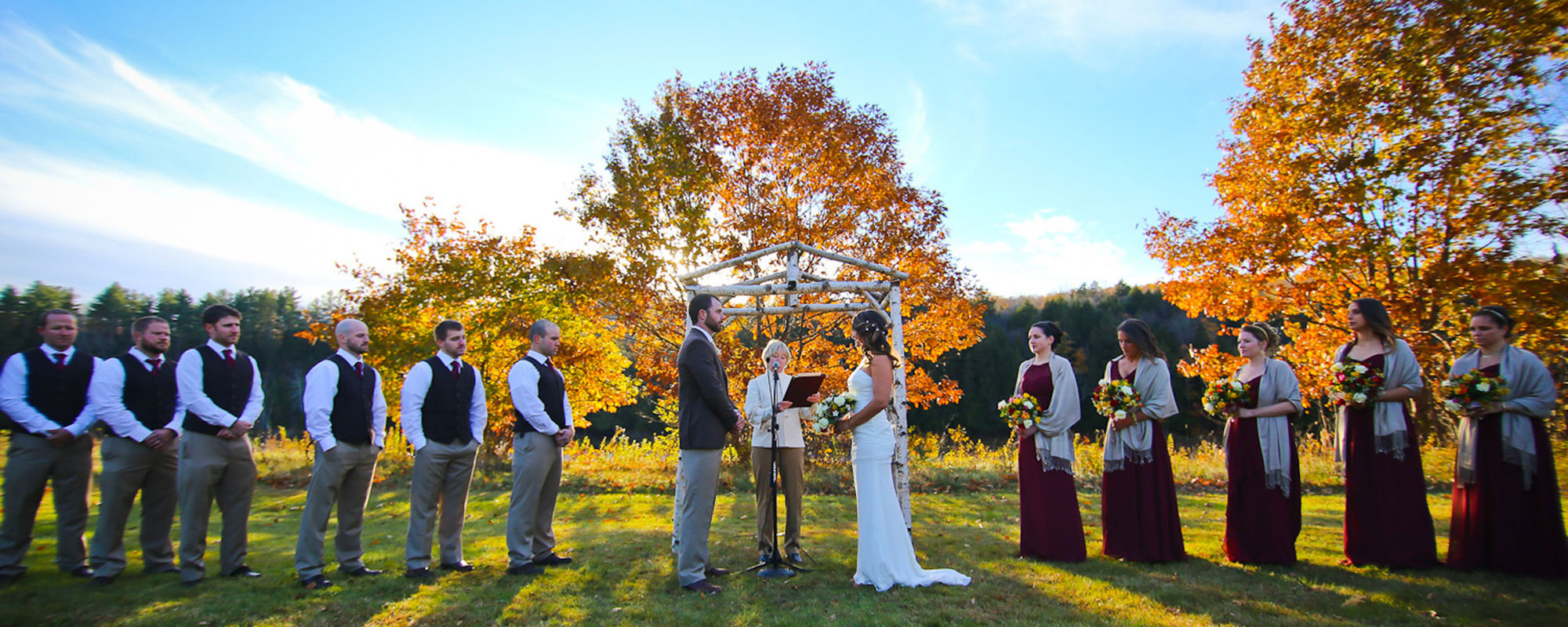 Wedding ceremony at Northern Outdoor Field
