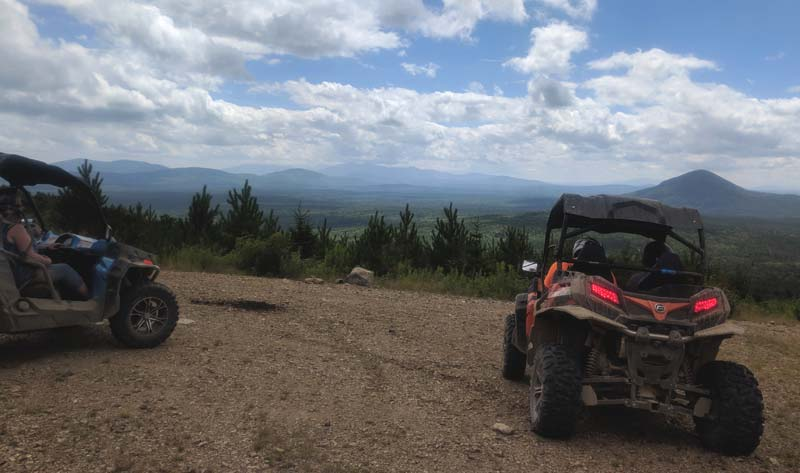 Maine ATV Trails with Mountain Views