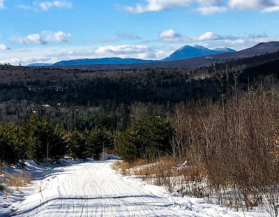 ITS 87 snowmobiling in Maine, Bigelow Mountain Range