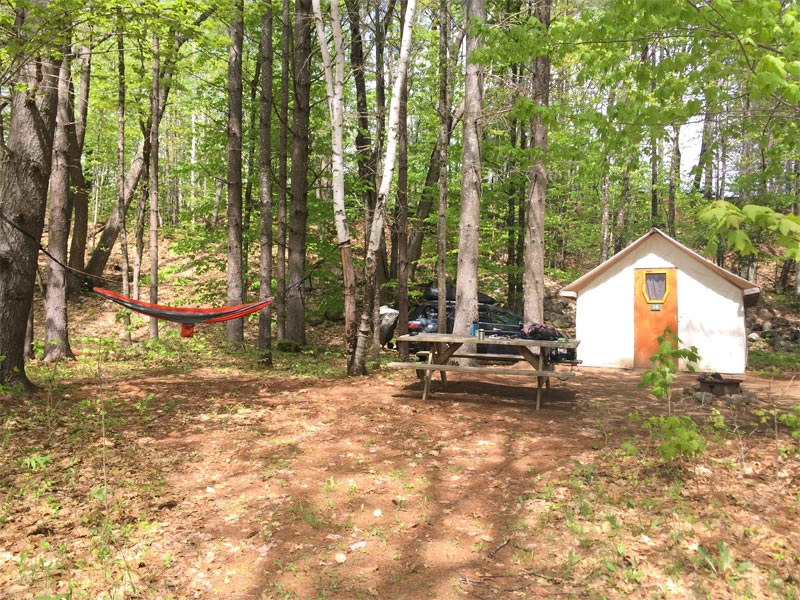 Camping Kennebec River, Maine