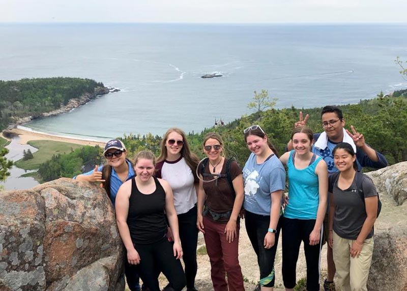 Hiking Acadia National Park - JWU College Program