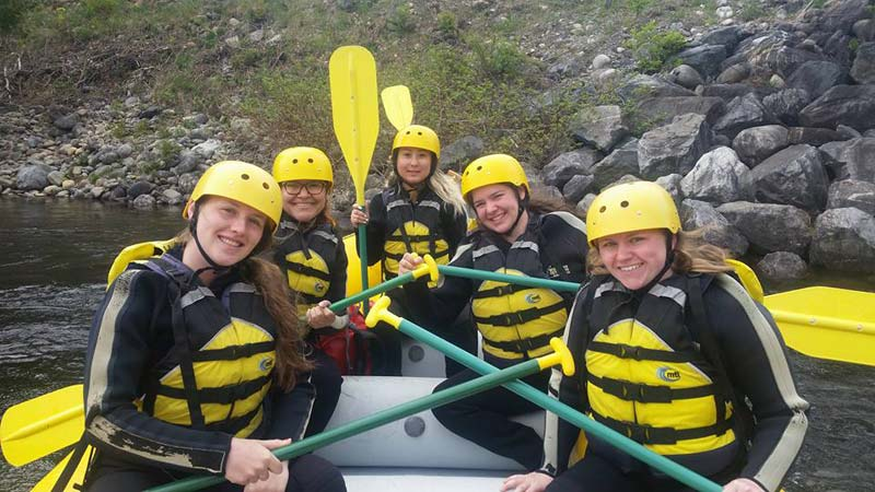 Whitewater Rafting - JWU College Program at Northern Outdoors