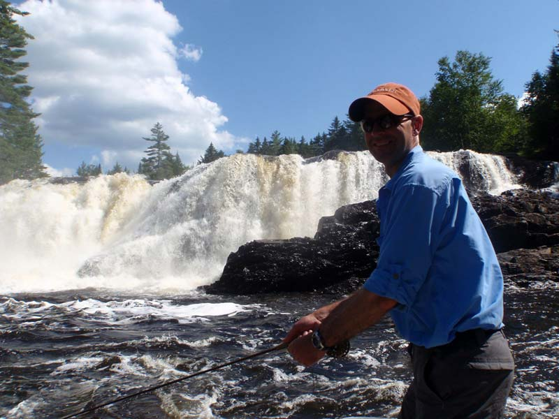Fishing at Grand Falls in Maine