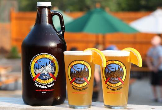 Kennebec River Brewery growler