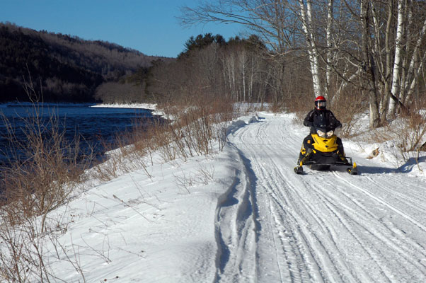 Kennebec River Trail Snowmobiling
