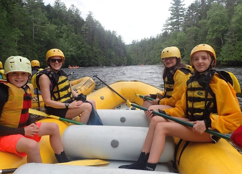 Family Smiles on the Kennebec River