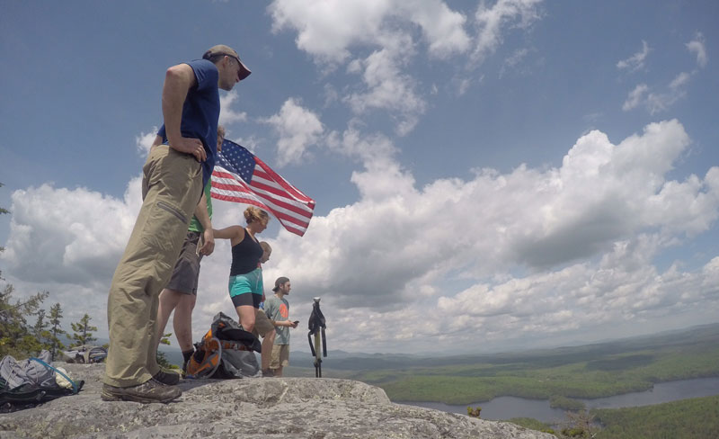 Outdoor Recreation Leadership Class on top of Mosquito Mountain