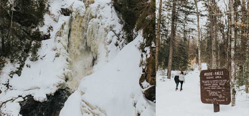 Hiking to Moxie Falls with LLBean
