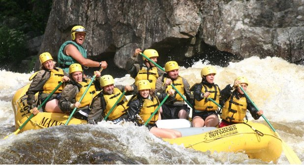 spring rafting northern outdoors - penbscot and dead river