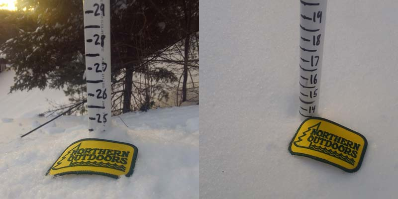 The Forks, Maine Snowpack