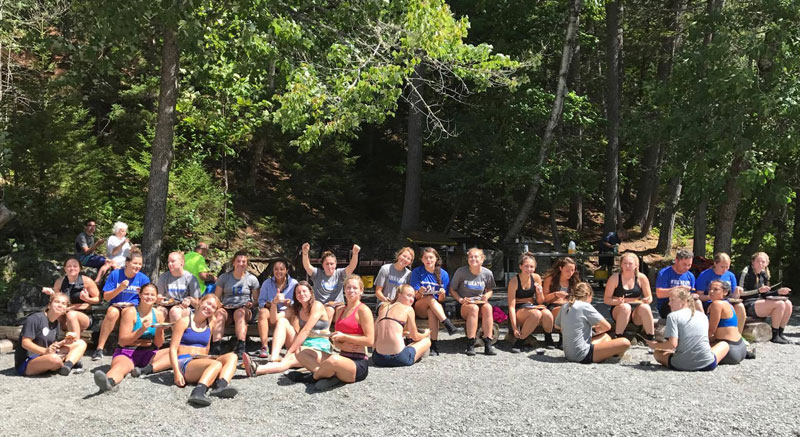 Wheaton College Women's Soccer Team - Lunch on the River