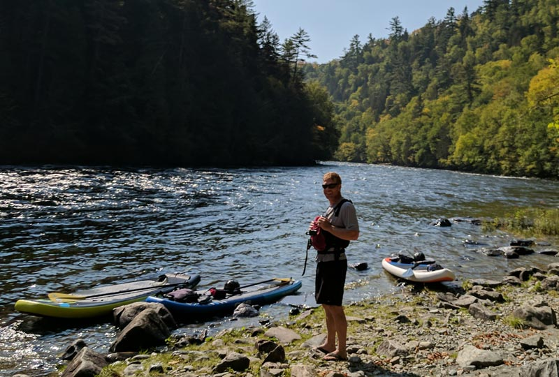 Paddleboarding the Kennebec River