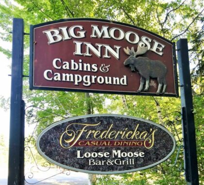 Big Moose Inn Sign