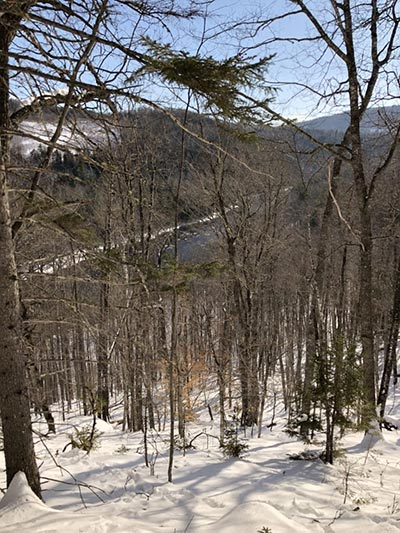 Winter View of Kennebec River