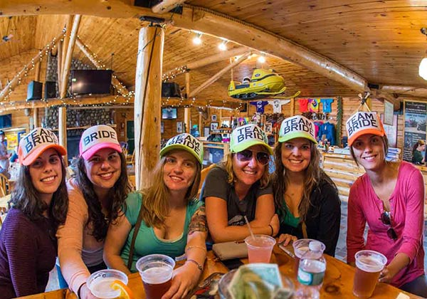 Bachelorette party at Kennebec River Brewery