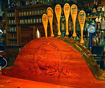 Kennebec River Brewery Tap handles